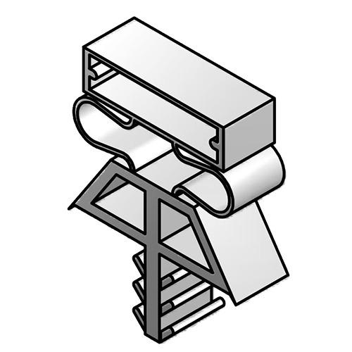 DOOR GASKET MAGNETIC (OLD STYLE) - 34X77 - Triple Dart