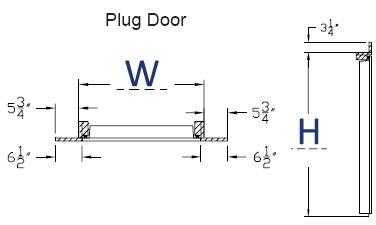 Plug Door. Opening Dimensions