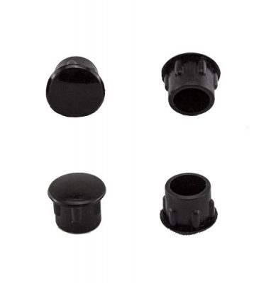 CAM PLUGS 3/8in - Black - Quantity of 100