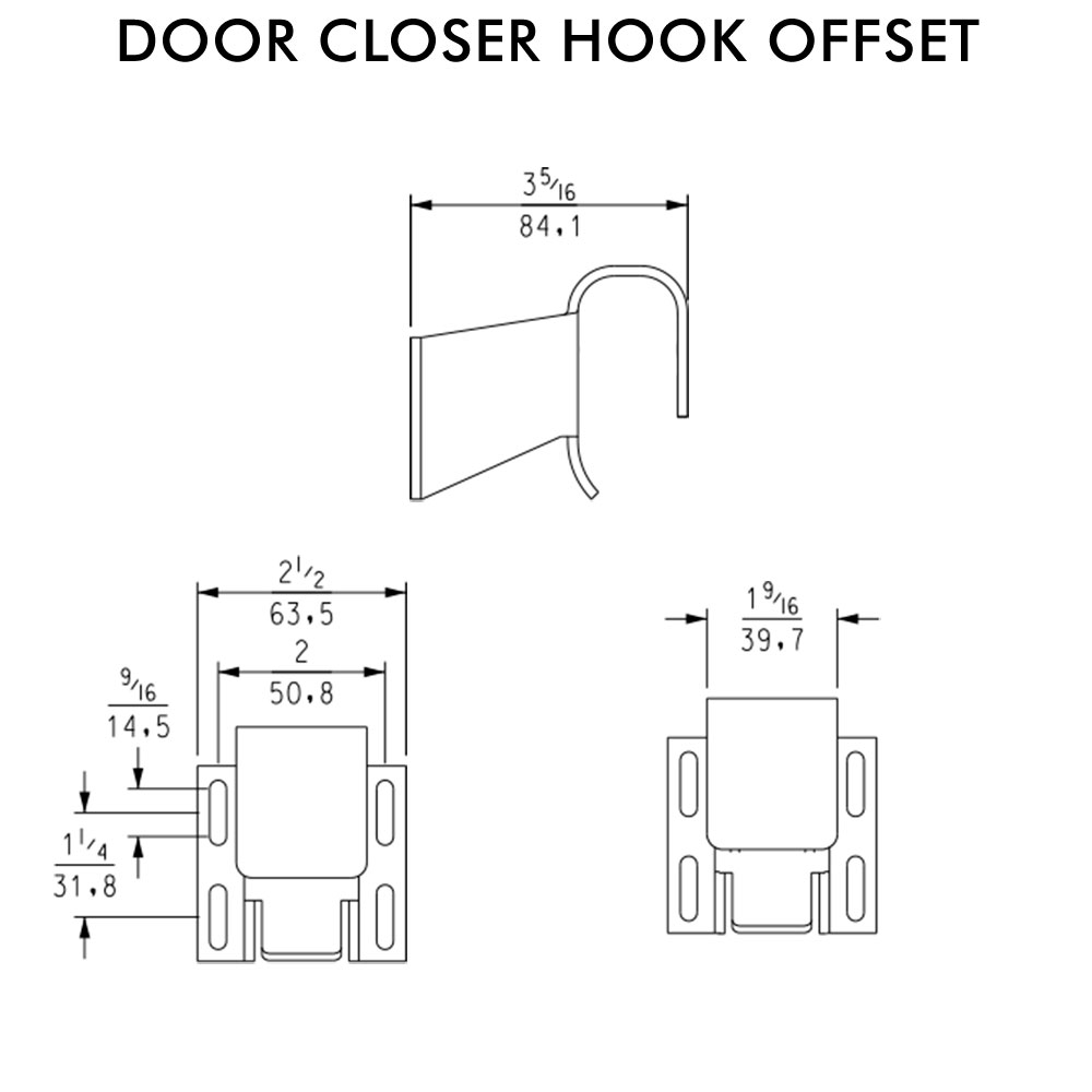 door closer hook only  u2013 1 8in offset  u2013 kason
