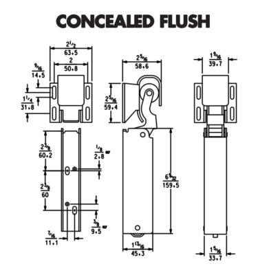 Kason 1094 concealed mount flush door closer