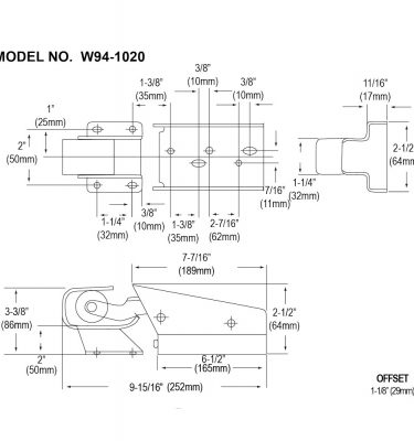 W94 concealed offset drawing
