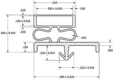 U.S. Cooler Standard Size Door Gasket Replacement Set