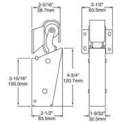 DOOR CLOSER - KASON 1095 - Spring Action - Flush Hook