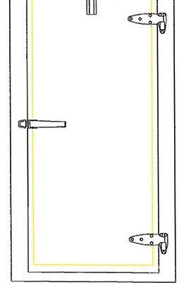 DOOR HEATER WIRE - Self Regulating - 226 In.- (US Cooler Standard Door Size 34x76)