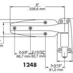 DOOR HINGES - KASON 1248 Pair - Flush - Reversible - Spring Assist