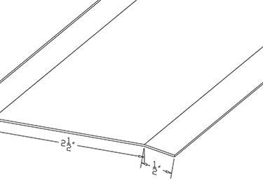 DRIP CAP - 4ft Length - Rain Cover Above Door