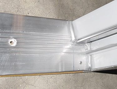 DOOR THRESHOLD - 36-3/4in Length - Aluminum