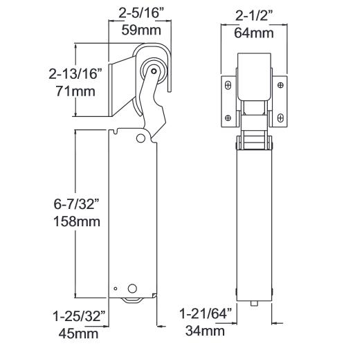 Door Closer Kason 1094 Hydraulic Concealed Mount