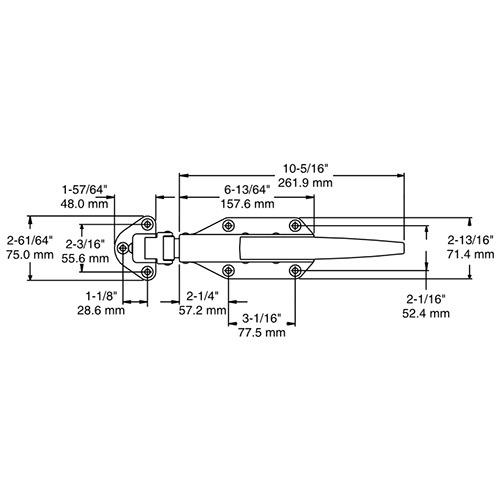 COMPLETE LOCKING LATCH KIT - Kason 77 - Flush
