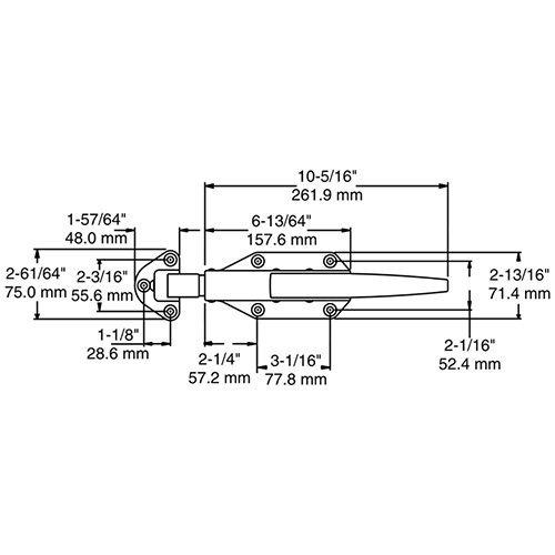 COMPLETE LATCH KIT - Kason 58 - Flush